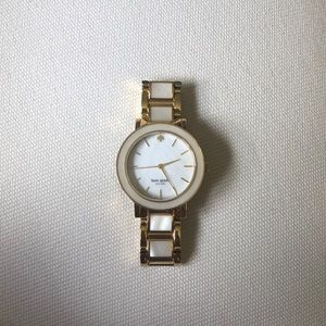 Kate Spade Pearl and Gold Watch